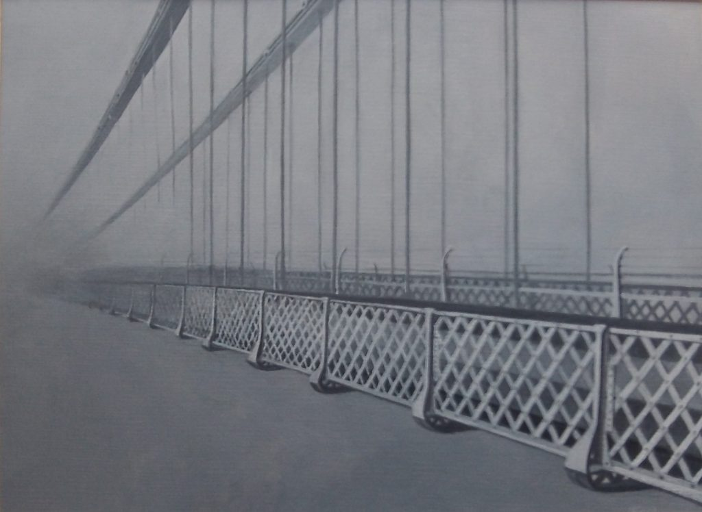 Clifton Suspension Bridge. Oil on Paper