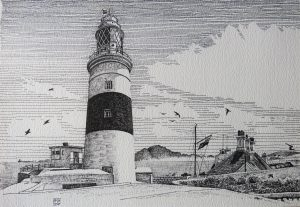 Europa Point, Gibraltar (Pen and Ink)