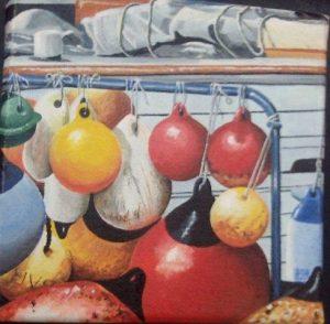 Floats n Fenders. Oil Painting