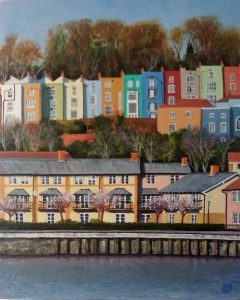 Hotwells Houses. Oil Painting