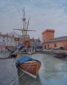 On The Slips, Bristol. Watercolour