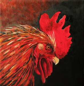 Little Red Rooster (Oils)
