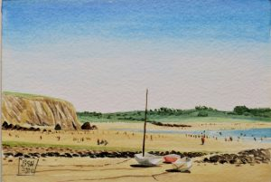 Kerloc'h Beach, Crozon, Brittany (watercolours)
