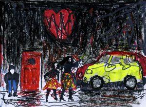 Paint It Black - for Jamie (felt tip, pastel, crayon)