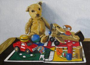Children's Toys (oils on canvas)