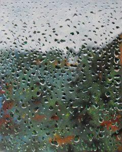 Rainy Window (Oils on Board)