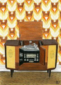 The Radiogram (Derwent Lightfast oil crayons)