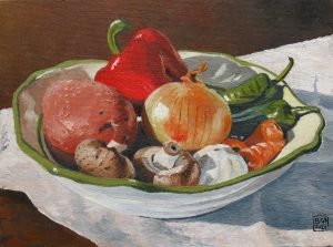 Vegetables Using 5 Colours (oils on canvas)