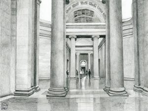 Tate Britain Gallery on Millbank (Pencil)